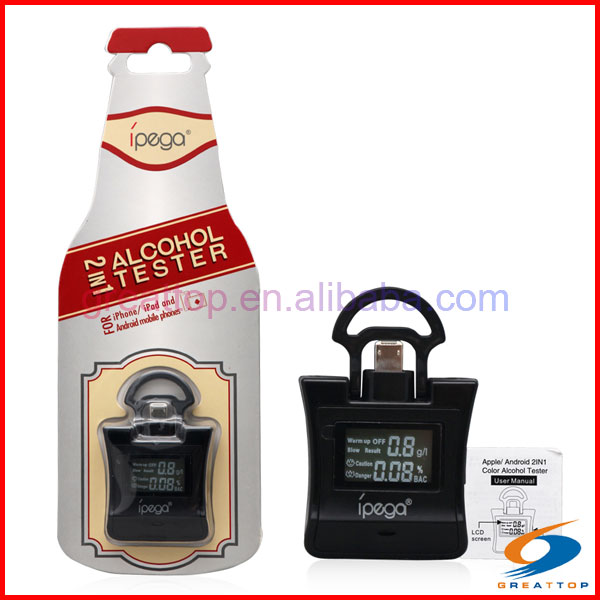 Apple mobile phone Breath Android i OS 2 in 1 Alcohol Tester