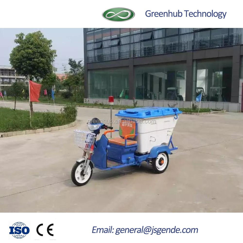 GD-35015 Electric Ride on garbage tricycle with good look and low price