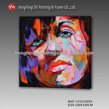 Newest Modern Abstract Knife Portrait Woman On Canvas Art