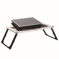 one touch folding laptop table with fans