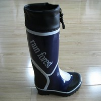Unique men clear rubber rain boots