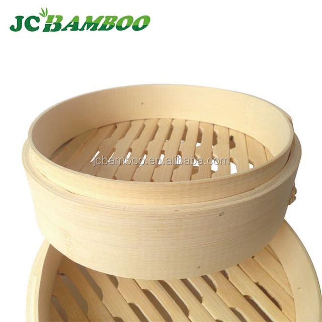 Eco-friendly bamboo steamer cheap price two layer one lid