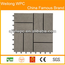 Outdoor garden plastic wood composite tile