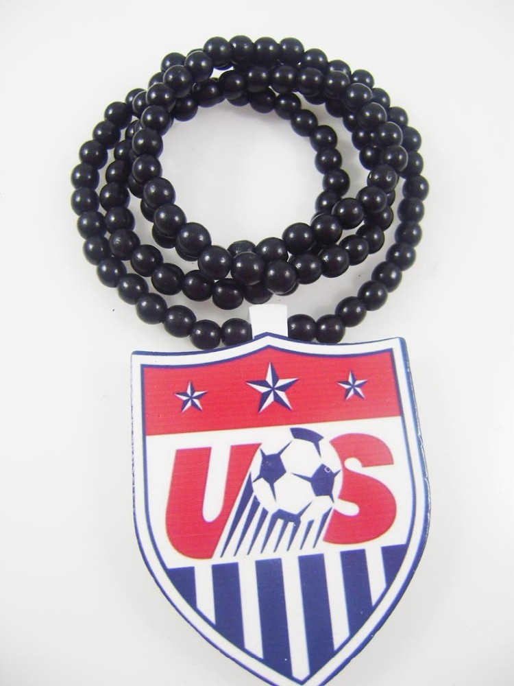GOOD WOOD NYC football team logo necklace good wood necklace USA