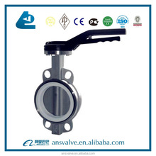 China Manufacturer Stainless Steel Wafer Butterfly Valve with Hand Lever/Worm Gear
