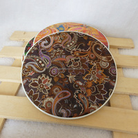 wholesale heatproof round ceramic coaster table mat with cork back