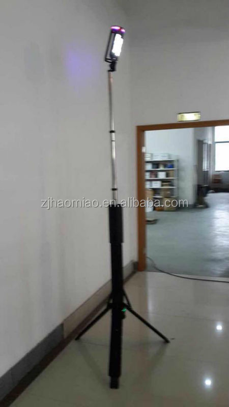 tripod telescopic led posted light tower with lithium battery with longtime operate time
