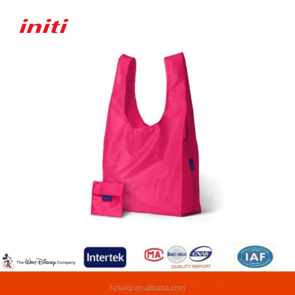 2015 Wholesale cheap nylon foldable shopping bag