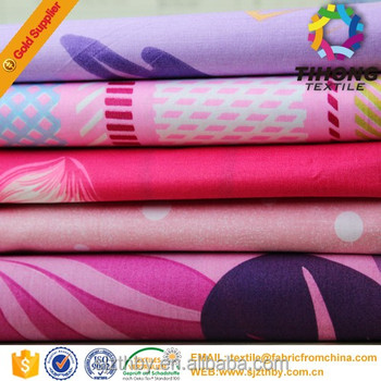reactive flower wholesale printed bedding fabric