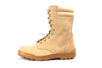 Side zip desert colour military boots / camouflage army boots / army shoes