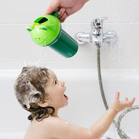 Baby Kids Cartoon Frog Style Bath Shower Water Rinse Cup Bathroom Hair Eye Shampoo Rinse Sprinkler Cup