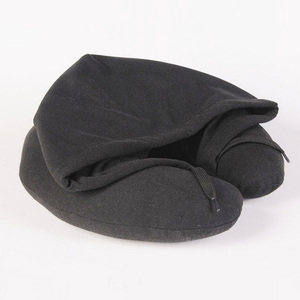 Headrest cushion pillows memory foam soft neck support pain relieve scarf travel hoodie pillow