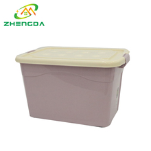 Hot selling stackable 65L large durable plastic storage box bin with lid