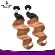 real virgin human hair bundles colored three tone ombre brazilian hair weave color brands wet and wavy