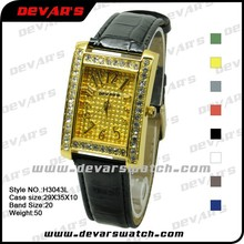 China wrist watch manufacturers laides gold plated watch, watch women luxe gold