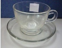 high quality/beautiful/promotion gifts glass coffee cup and saucer