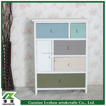 colorful design wooden storage cabinet with many drawers,wooden cabinet
