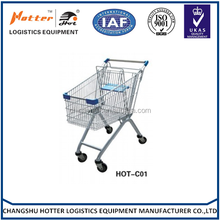 Good market enjoying popular european style steel wire shopping cart with baby seat/stainless steel cart shopping cart