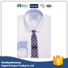Model 100%Cotton Poplin Slim Fit Men Business Office Uniform Shirt