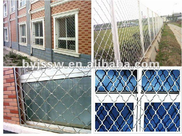 Low-carbon Steel Beautiful Grid Wire Mesh Fence
