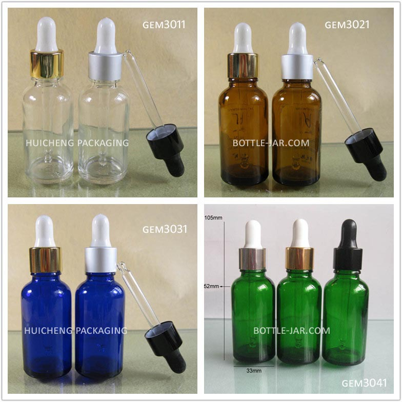 15 ml, 30ml dropper glass bottle half ball shape