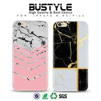 Wholesale Ultra Slim Soft Silicone Shell Case for Apple iPhone 6 6s plus with the Latest IMD Crafts Marble Designs