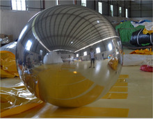 inflatable mirror gold/silver ball decorative inflatable balloon advertising for sale
