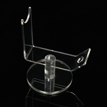 Modern Design Single Transparent Acrylic Pen Toy Gun Holder with base