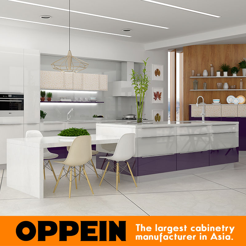 Kitchen Base Unit Modern Colorful High Gloss Lacquer Small Kitchen Design
