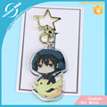 Vograce Acrylic Charms Custom Printed Personality Acrylic Standee Clear Glitter Acrylic Keychain