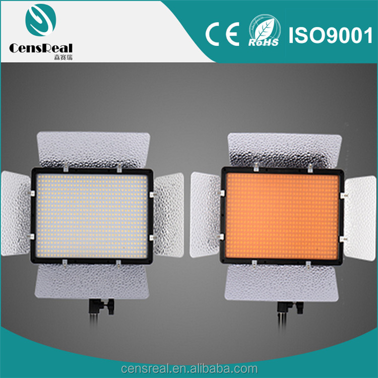 Professional bi-color LED 680 video camera light for studio with remote control