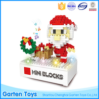 Best gifts custom santa claus building blocks kids christmas gift with light music
