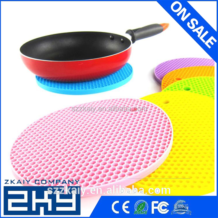 Silicone Honeycomb Thicken Silicone Heat Pad Placemat Fashion Pot Holder Disc Pads Bowl Coasters Placemats Table Dinner Mat