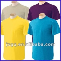 Wholesale design men's 100% cotton plain round neck high quality plain t-shirt