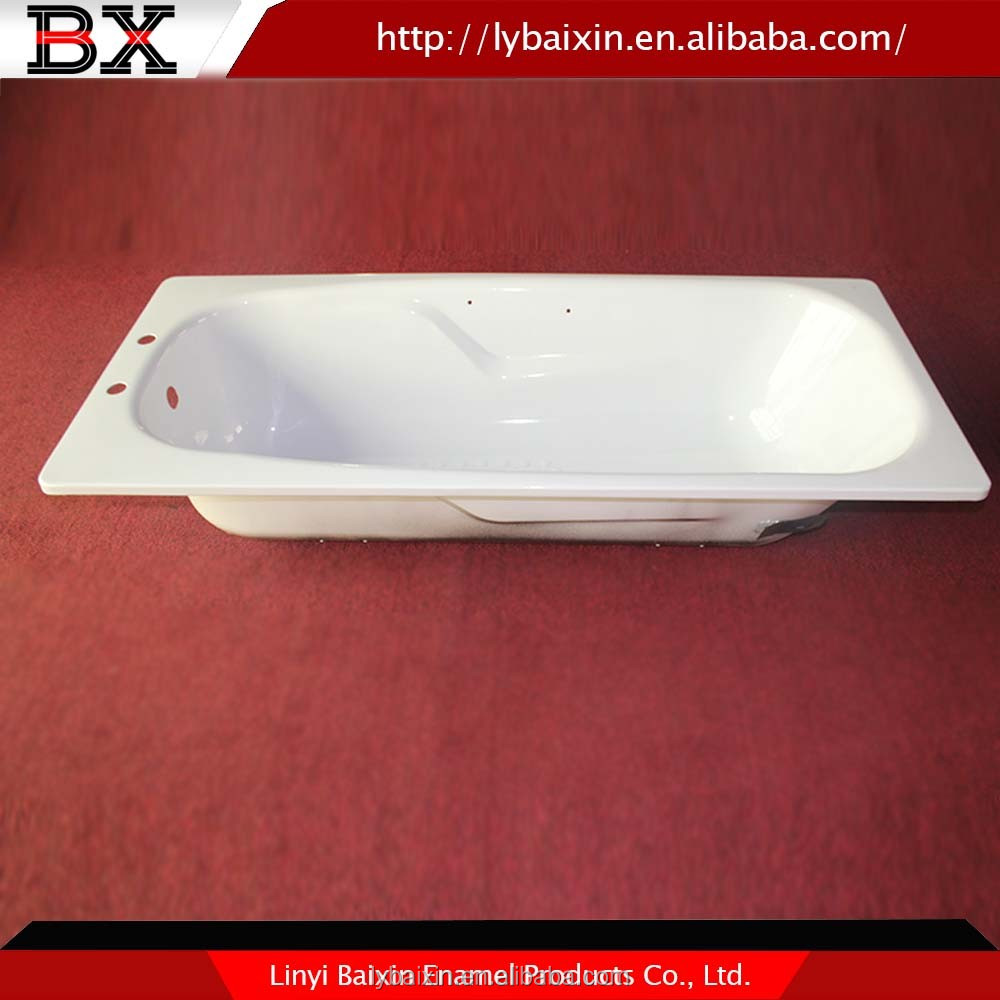 Alibaba China wholesale cheap enameled steel bathtub