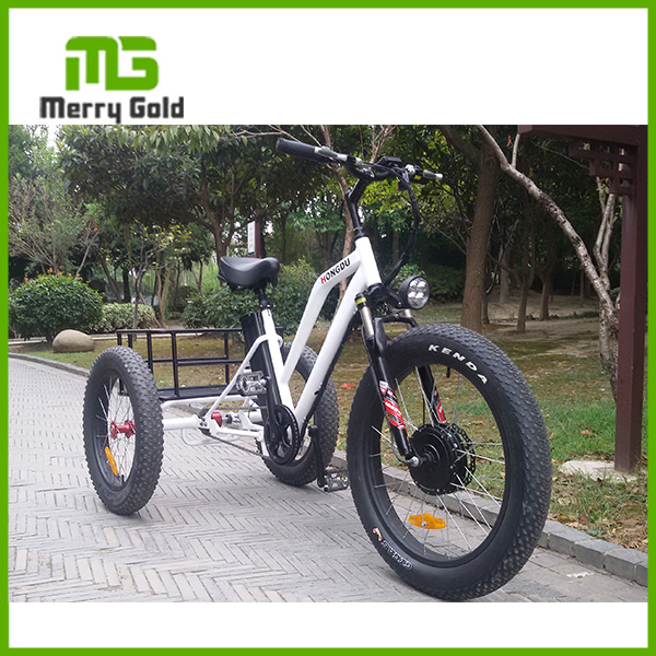24 inch adult 3-wheel ebike/electric tricycle with front suspention