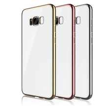 Full protective Slim electric plating high transparent TPU case for samsung galaxy s8 case,case for samsung
