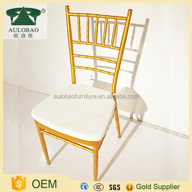 Wholesale In China Aluminum Chivary Wedding Chair