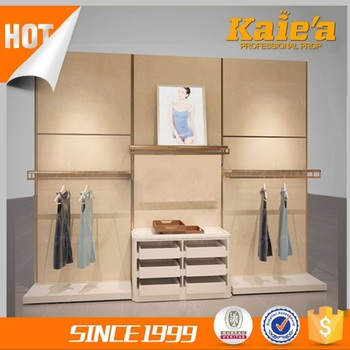 Competitive wood clothing store display fixtures made in China