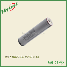 alibaba china High quality li-ion CGR18650CH 2250mah 3.7v rechargeable lithium battery