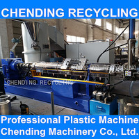CHENDING pp pe plastic film pelletizing machine granulating machine recycling plastic granulator with CE standered