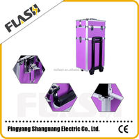 Purple Color Popular Train Aluminum Manufacturer Tool Box Flight Case