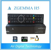 Full Channel Softwares ZGEMMAH5 Satellite Receiver Fast CPU Dual Core Linux OS E2 HEVC/H.265 DVB-S2+ hybrid DVB-T2/C Twin Tuners