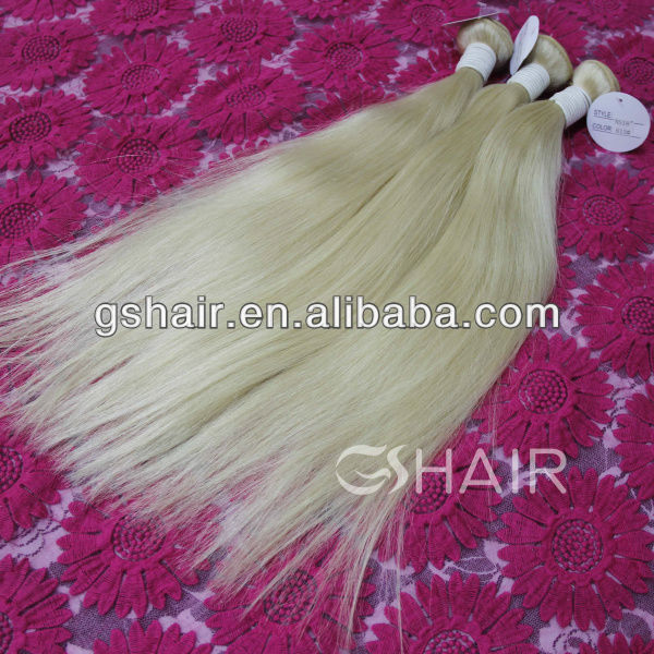 6A grade remy hair extension Brazilian 613 color weave human hair