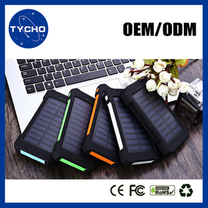 Portable Solar Power Bank For Laptop Computer Water Resistance Solar Power Bank Rechargeable Solar Battery 10000mAh