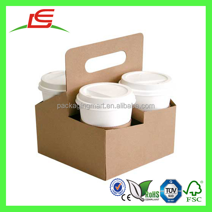 Q1143 Wholesale Custom Take Away 4 Drink Coffee Cup