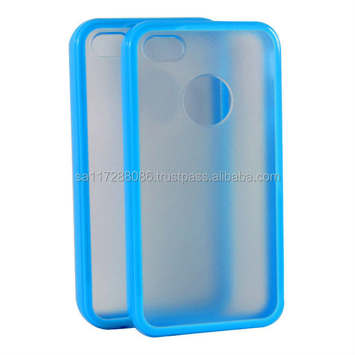 TPU+PC mat phone case Protective mobile phone cover with 2 colors