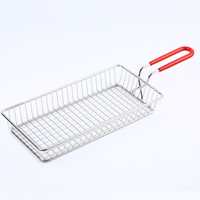 Patented Product Stainless Steel Serving Dish Fast Food Tray With Handle 240x120x35mm