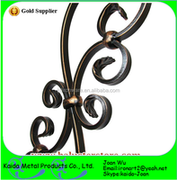 Beautiful Powder Coated Wrought Iron Indoor S Scroll Balusters For Sale