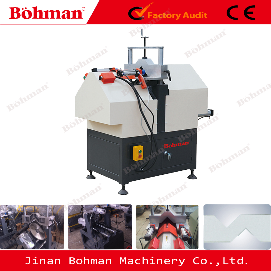 French style mullion pvc window frame V notch cutting machine
